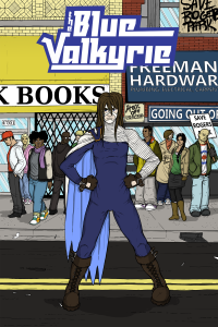 The Blue Valkyrie's creators bill it as the story of a trans superhero. Nice!